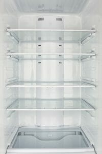 Photo of an empty refrigerator before moving