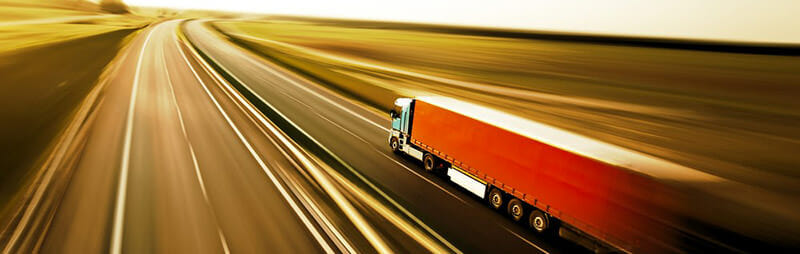 Household Moving Truck driving long distance on the highway