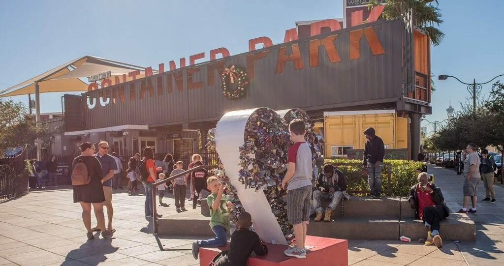 The Container Park in Downtown Las Vegas Nevada