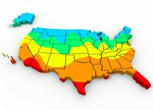 Map of United States Climate Regions