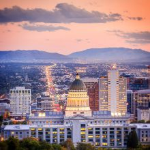 Photograph of Downtown Salt Lake City Utah