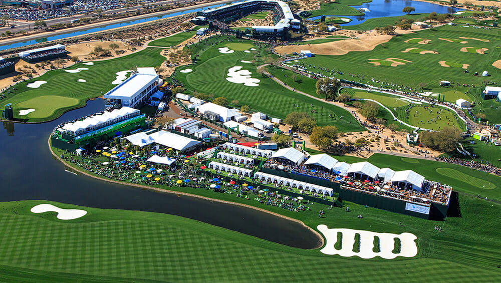 Aerial View of TPC Phoenix Golf Course