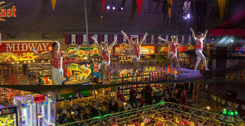 The Circus show under the dome at Circus Circus Hotel and Casino in Las Vegas Nevada